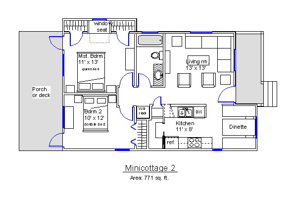 Floor Plans for a Playhouse http://domplans.com/mini-cottage-plans/
